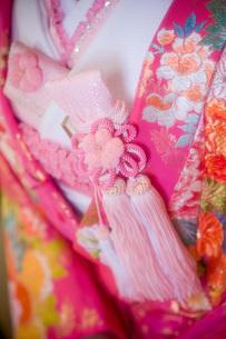 和装着物(ピンク花柄)の写真素材 [FYI00367726]
