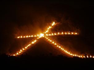 五山送り火の写真素材 [FYI00368039]