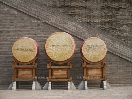 西安 城壁北門の写真素材 [FYI00368042]