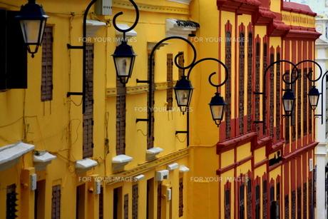 ポルトガルの街並み-マカオの写真素材 [FYI00368118]