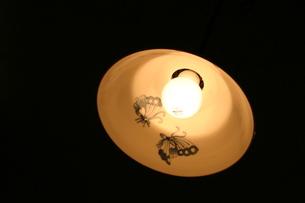 有田焼でできた照明の写真素材 [FYI00368151]