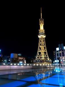 名古屋テレビ塔の夜景の写真素材 [FYI00368183]
