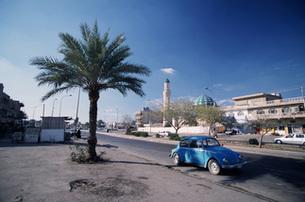 ワーゲンとモスクの写真素材 [FYI00368345]