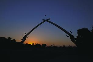夕景のサダムの手の写真素材 [FYI00368376]