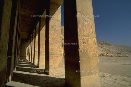 ハトシェプスト女王葬祭殿、柱群の写真素材 [FYI00368438]