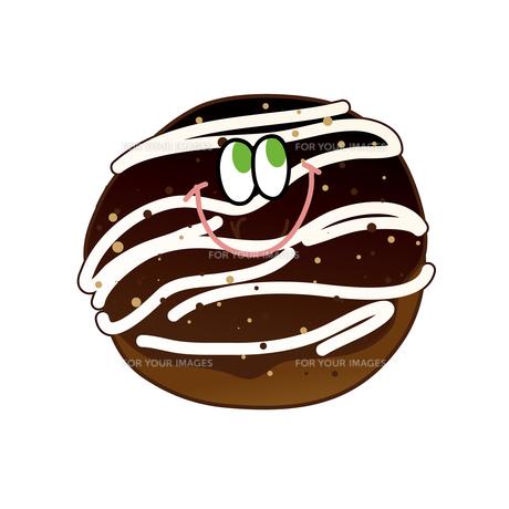チョコクリームドーナツの写真素材 [FYI00368521]