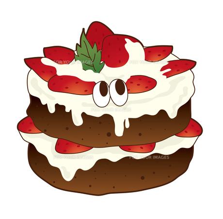 イチゴチョコケーキの写真素材 [FYI00368543]