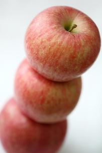 3つのふじりんごの写真素材 [FYI00368600]