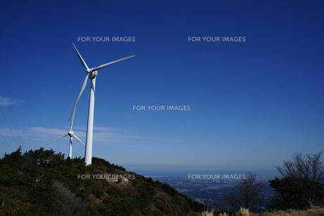 青山高原の風力発電の素材 [FYI00368997]