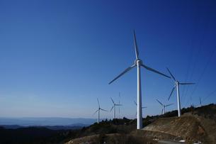 青山高原の風力発電の素材 [FYI00369007]