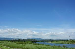 雲出川と近鉄名古屋線の写真素材 [FYI00369080]