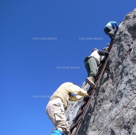 3180m 最後の階段の写真素材 [FYI00369699]