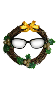 クリスマスリースめがねの写真素材 [FYI00369911]