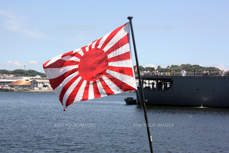 潜水艦おやしおの旭日旗 の写真素材 [FYI00369913]