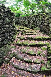 宮古島/史跡大和井(大和ガー)の石段の写真素材 [FYI00374787]
