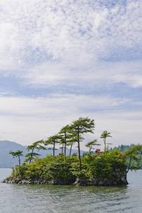 十和田湖 恵比須島の写真素材 [FYI00376596]