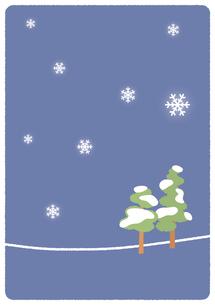 雪景色イラストの写真素材 [FYI00376651]