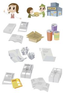 ゴミ分別イラスト01の写真素材 [FYI00376665]