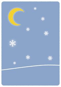 雪景色イラストの写真素材 [FYI00376667]