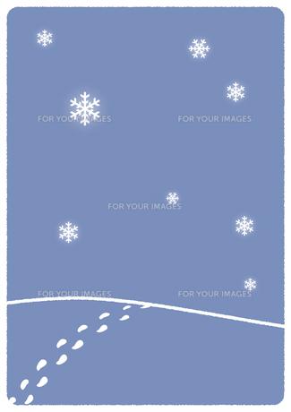 雪景色イラストの写真素材 [FYI00376670]
