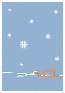雪景色イラストの写真素材 [FYI00376672]
