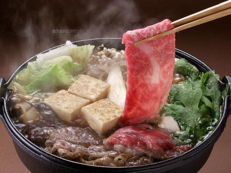 牛肉のすき焼きの写真素材 [FYI00377134]