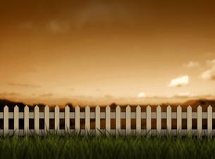 夕暮れの草原の素材 [FYI00377386]