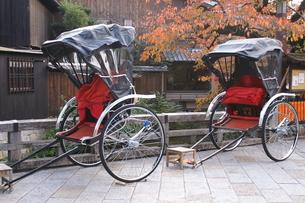 祇園と人力車の写真素材 [FYI00377650]