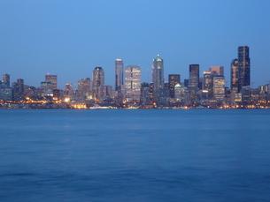 シアトル 夜景の写真素材 [FYI00377766]