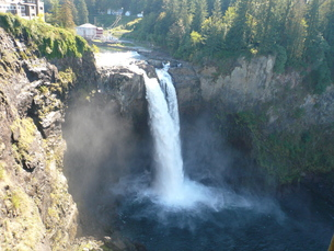 シアトル スノコルミーの滝の写真素材 [FYI00377776]