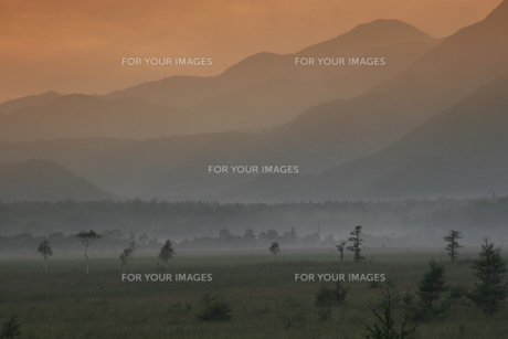 戦場ヶ原の夕景の写真素材 [FYI00378067]