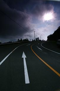 中禅寺湖道路の素材 [FYI00378068]