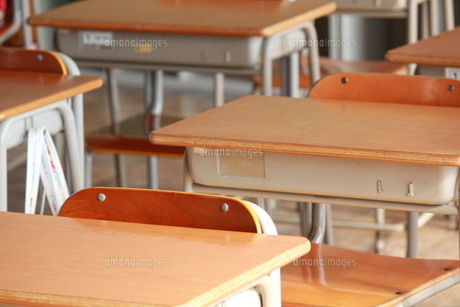 教室と机の写真素材 [FYI00378427]