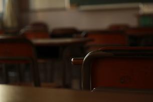 夕暮れの教室の写真素材 [FYI00378435]