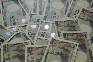 一面の 一万円札 経済イメージの写真素材 [FYI00378482]