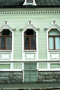 緑の家の写真素材 [FYI00378525]