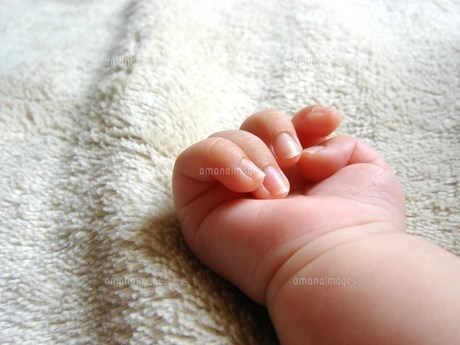 赤ちゃんの手(生後1か月)の写真素材 [FYI00378558]