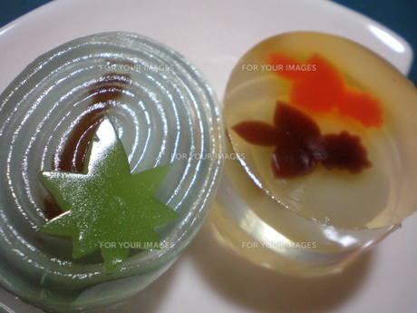 夏の和菓子の写真素材 [FYI00378601]