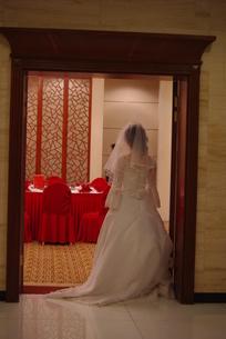花嫁の後ろ姿の写真素材 [FYI00378635]
