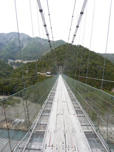 十津川 谷瀬の吊り橋の写真素材 [FYI00378817]
