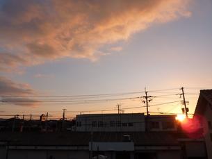 幻想的な濃い夕空の写真素材 [FYI00378821]