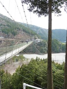 谷瀬の吊り橋の写真素材 [FYI00378838]