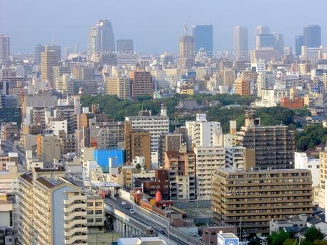 通天閣から大阪城の写真素材 [FYI00378865]