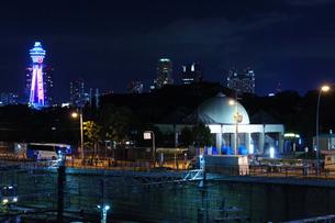 夜の通天閣の写真素材 [FYI00378886]