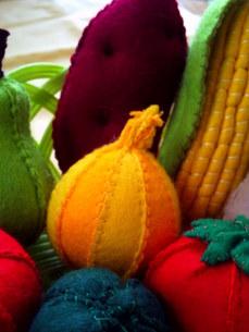 フェルトの野菜の写真素材 [FYI00379034]