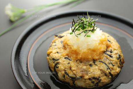 和風豆腐ハンバーグ 和食 日本料理の写真素材 [FYI00379382]