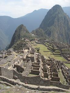 ペルーのマチュピチュ遺跡の写真素材 [FYI00379461]