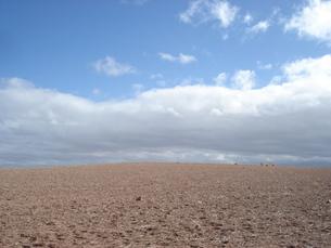 モロッコ・マラケシュの砂漠と青空の写真素材 [FYI00379471]