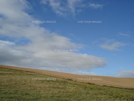 イギリスの丘陵と広がる青空 2の写真素材 [FYI00379477]