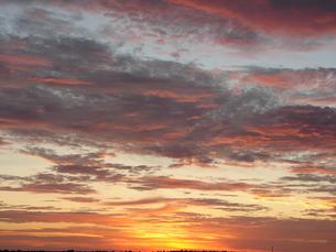 朝日と雲の写真素材 [FYI00381179]
